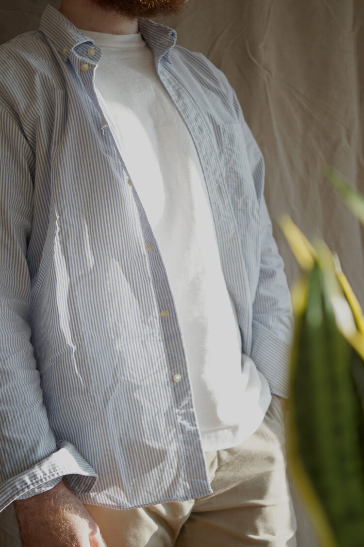 The Uniqlo Men's Regular Fit Oxford Shirt. Our pick for the best budget OCBD for men.