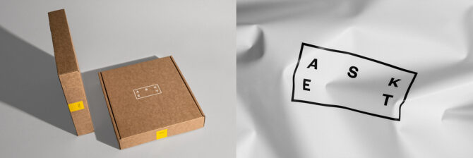 The packaging for Asket's Egyptian cotton t-shirt. Our pick for best overall t-shirt in this review.