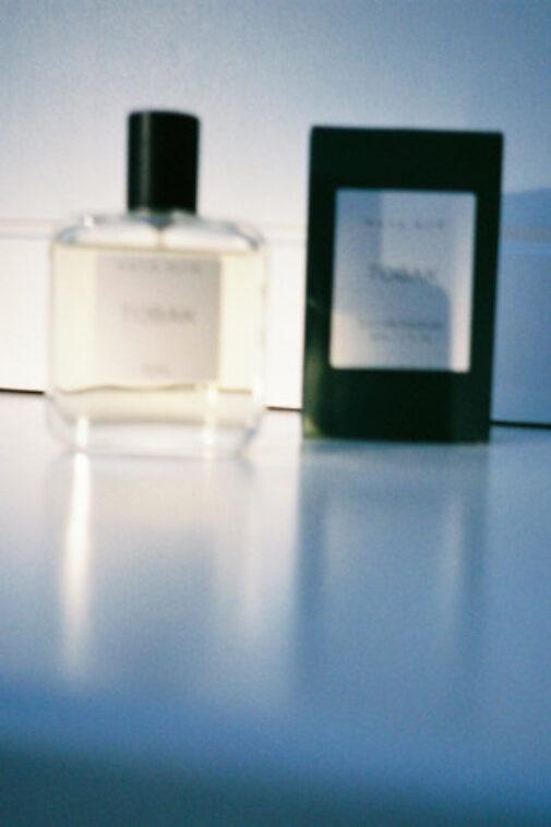Maya Njie Tobak Perfume and packaging.