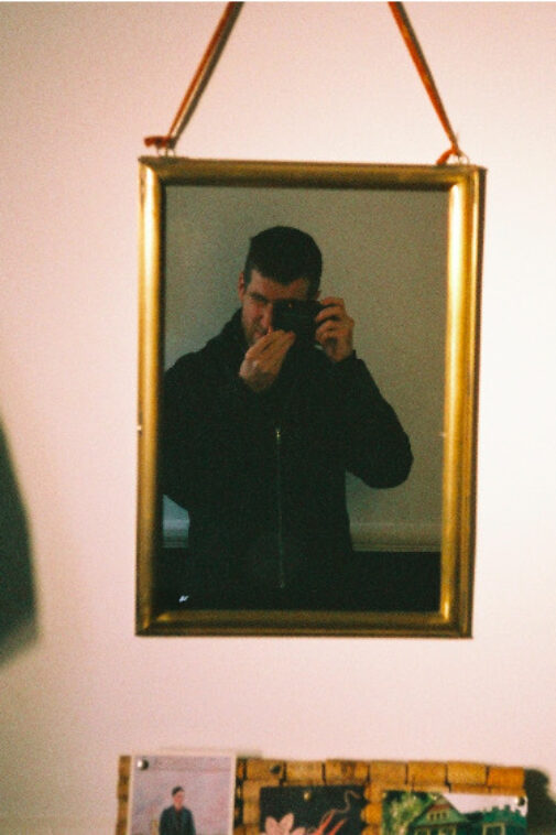 A mirror selfie with the Pentax PC35AF-M Camera.