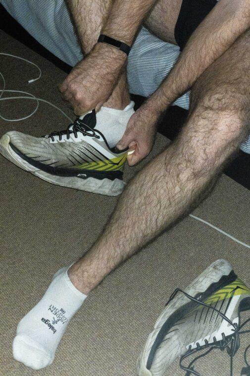 The best running socks, the Balega Hidden Comfort.