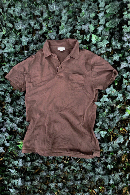 Our pick for the best overall polo, the Sunspel Riveira.